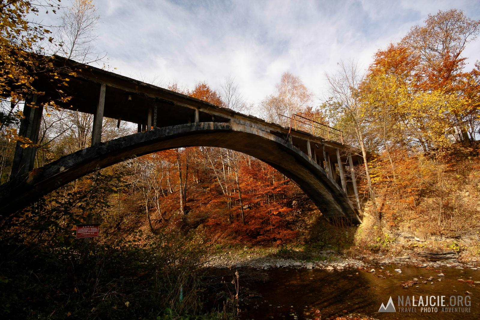 Most kolejki w Wetlinie