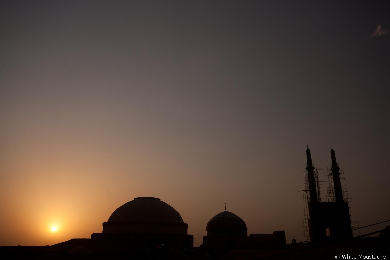 Zachód słońca nad Jama Masid