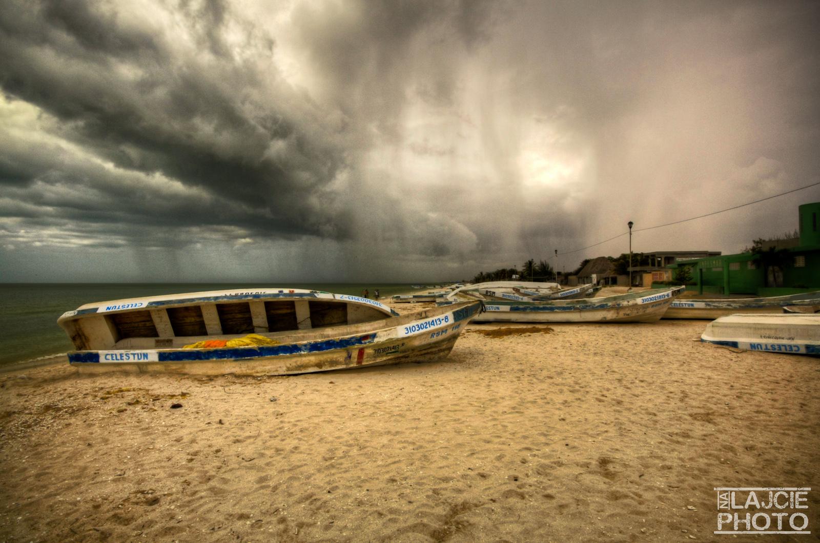 Burza w Celestún
