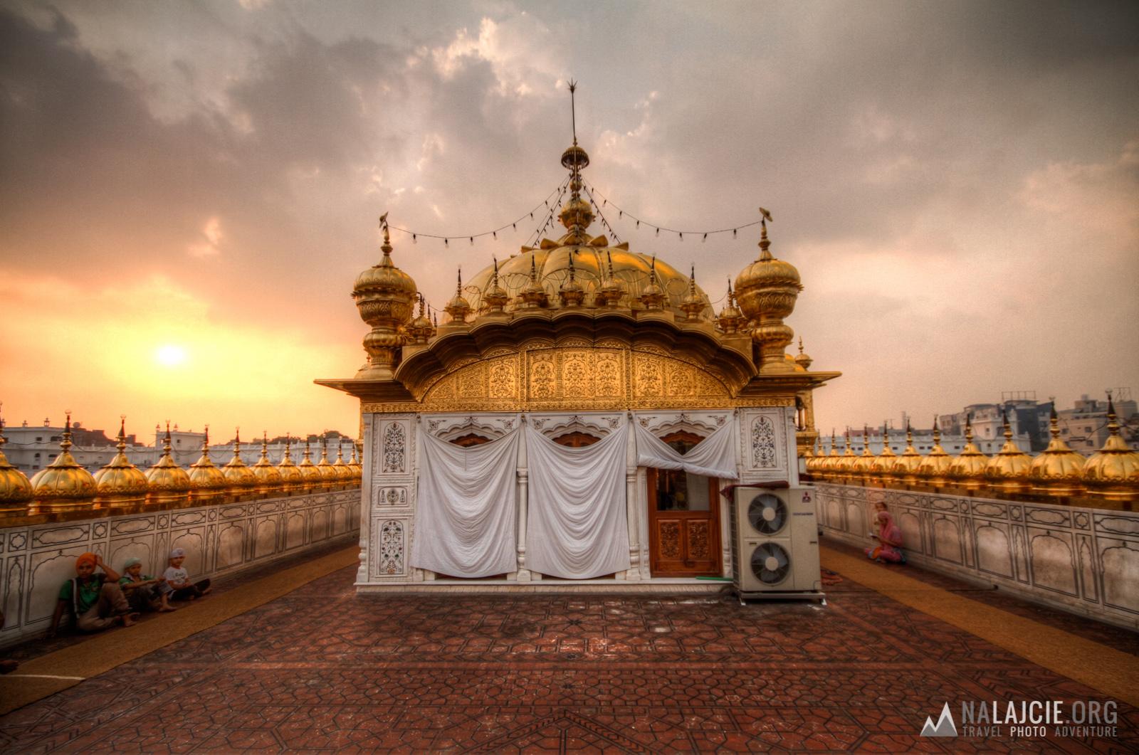 Widok z dachu świątyni