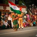 Przebieżki z flagą Indii