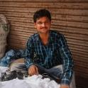 Sprzedawca tkanin