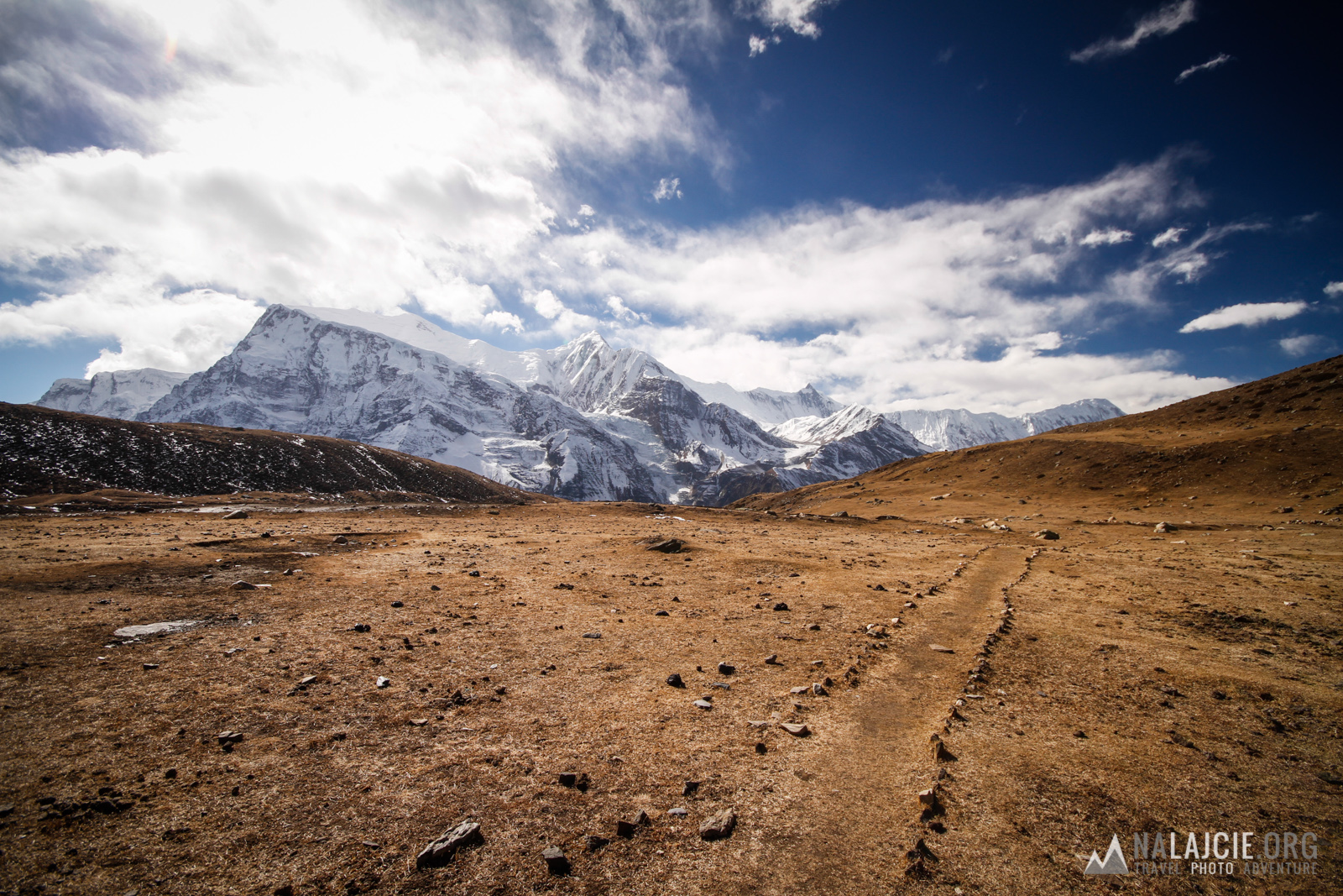 Przepiękne widoki na Annapurnę.