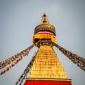 Przed zachodem słońca odwiedzamy stupę Bodhnath.