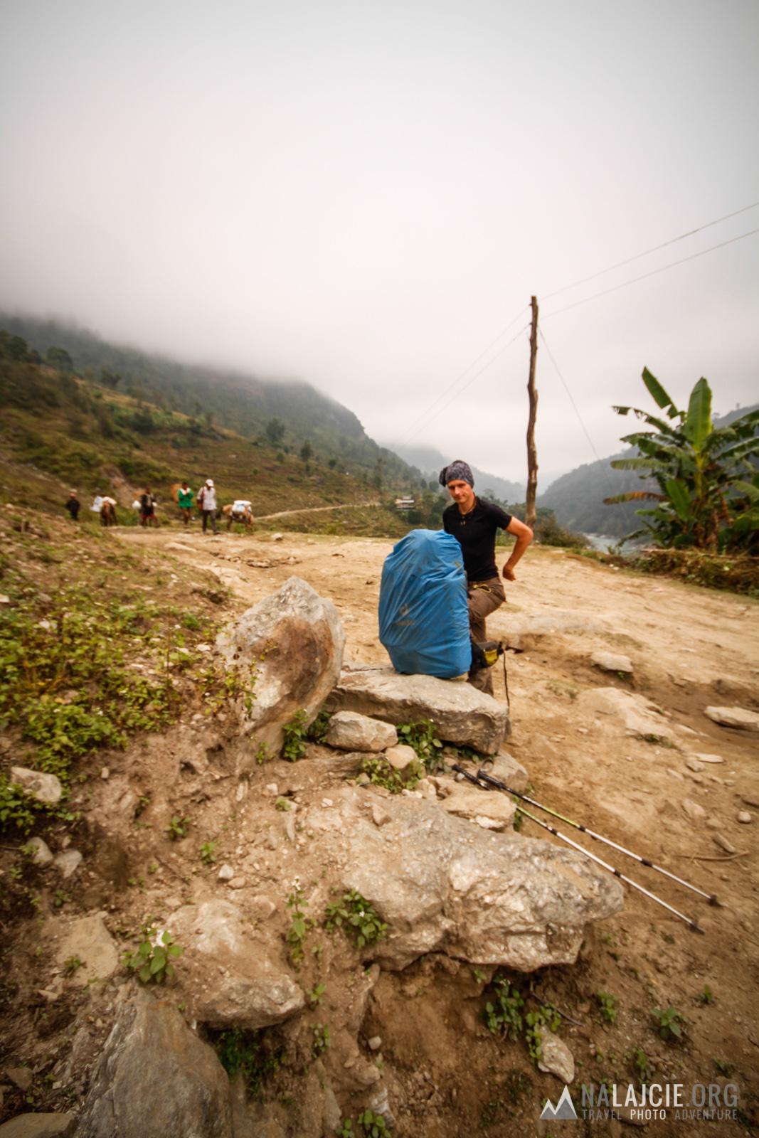 Dzień drugi - w drodze do Soti Khola.