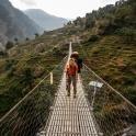 Rejon Manaslu słynnie z najdłuższych wiszących mostów w Nepalu!