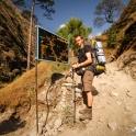 Rozgałęzienie szlaków na Tsum Valley.
