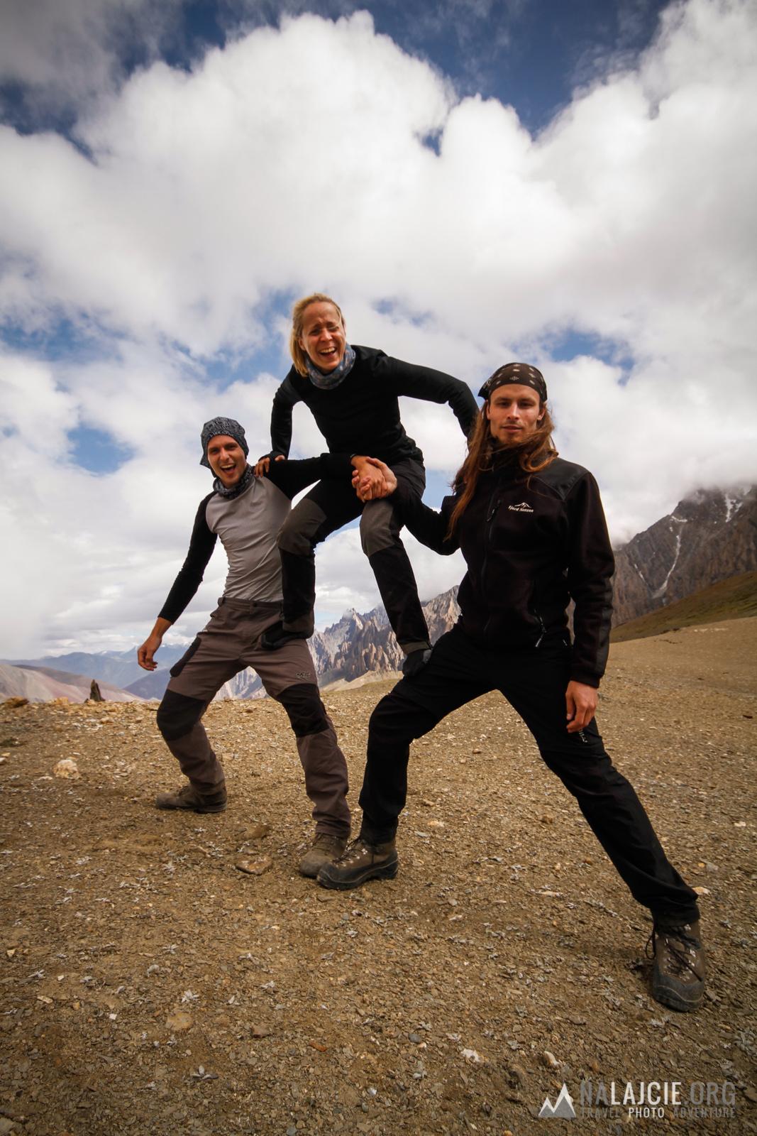 Na przełęczy - dobre humory nas nie opuszczają!