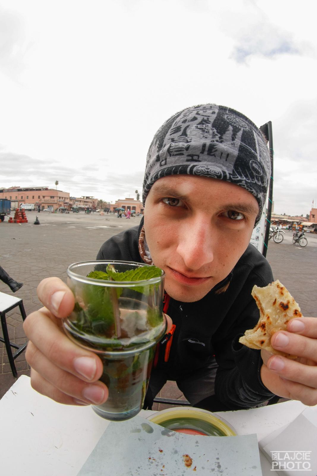 Śniadanie w Marakeszu - naleśnik + miętówka