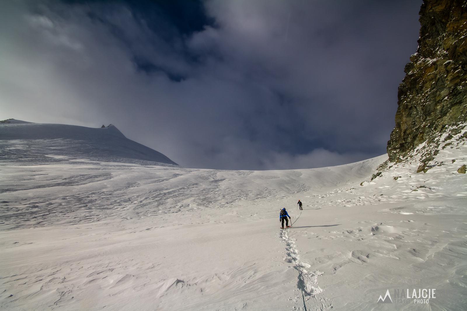 Podejście na przełęcz Allalin