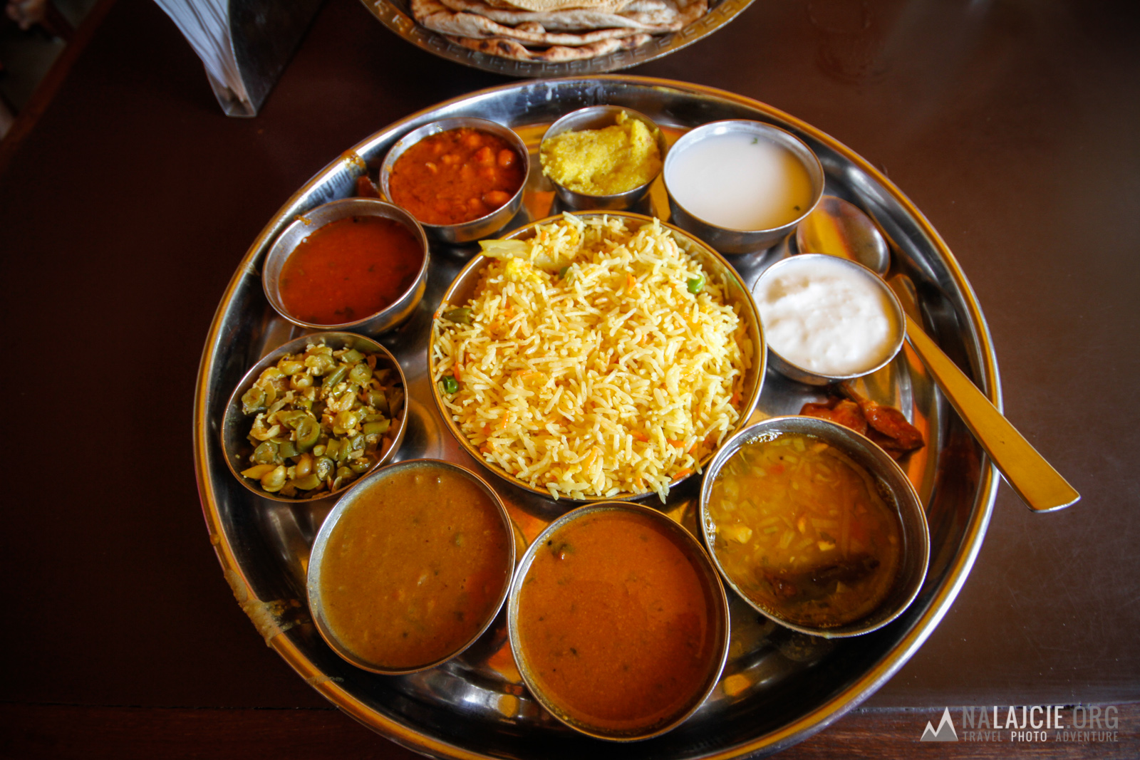 Na pyszne south india thali!