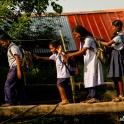 A także dzieci wracające ze szkoły.