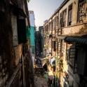 """Widok z naszego apartamentu """"na szczotki"""" -Yangon"""
