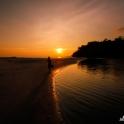Przypływ po zachodzie słońca.