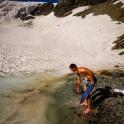 kąpiel z kostkami lodu :)